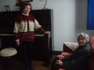 D. Marta e D. Lila, autoras do Hino à Guaranésia