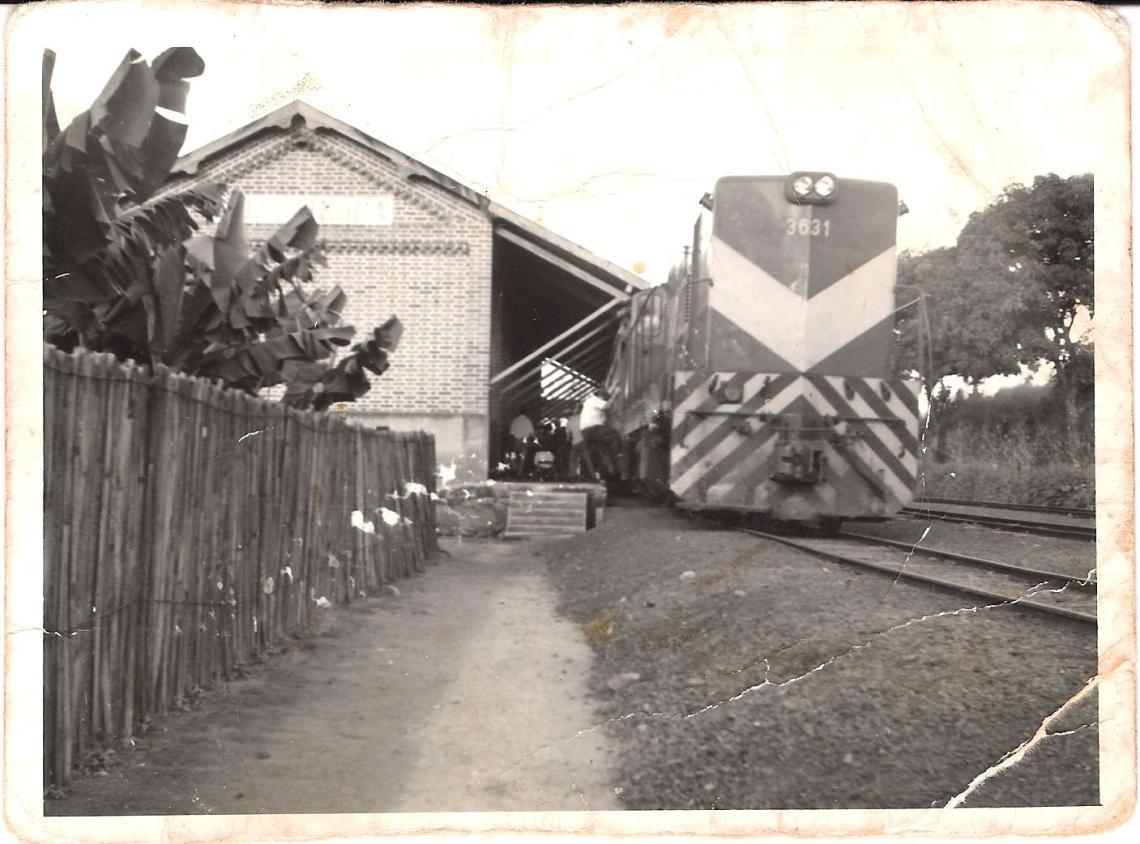Trem na Estação de Guaranésia - Década de 1970