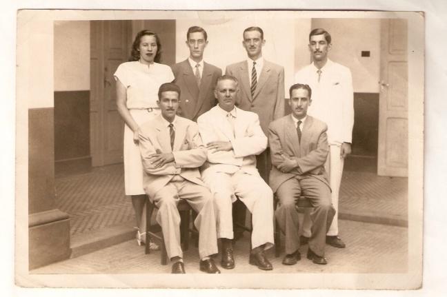 O Prefeito Synésio Pinheiro da Silva e funcionários da Coletoria, 1948