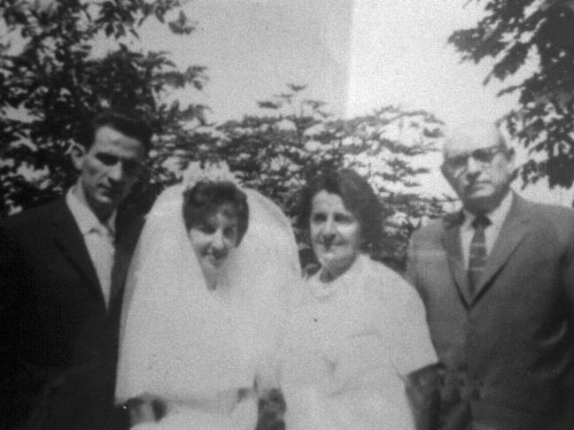 Casamento Domingos Minchillo e Thedolinda Adelaide Lopes Minchillo - D. Dedé
