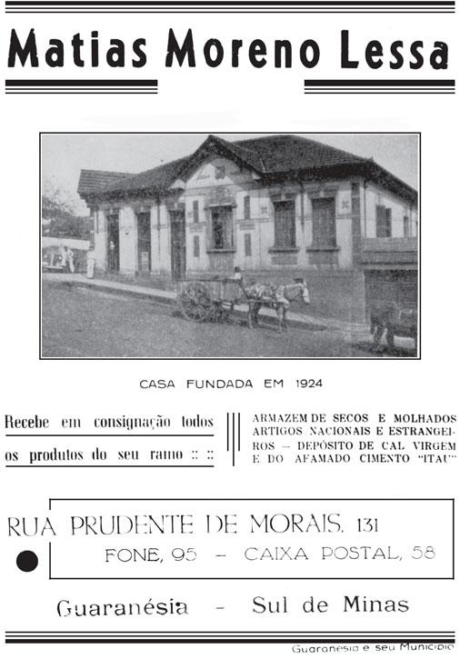 Casa comercial Moreno Lessa, 1946